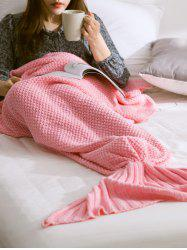Warmth Comfortable Sofa Knitted Mermaid Tail Blanket -