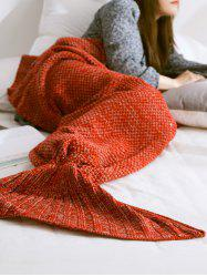 Warmth Comfortable Sofa Knitted Mermaid Tail Blanket