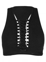 Lace Up Racerback Tank Top