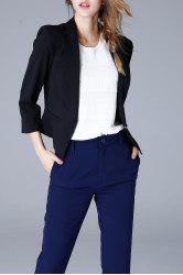 Shawl Collar Cropped Blazer -