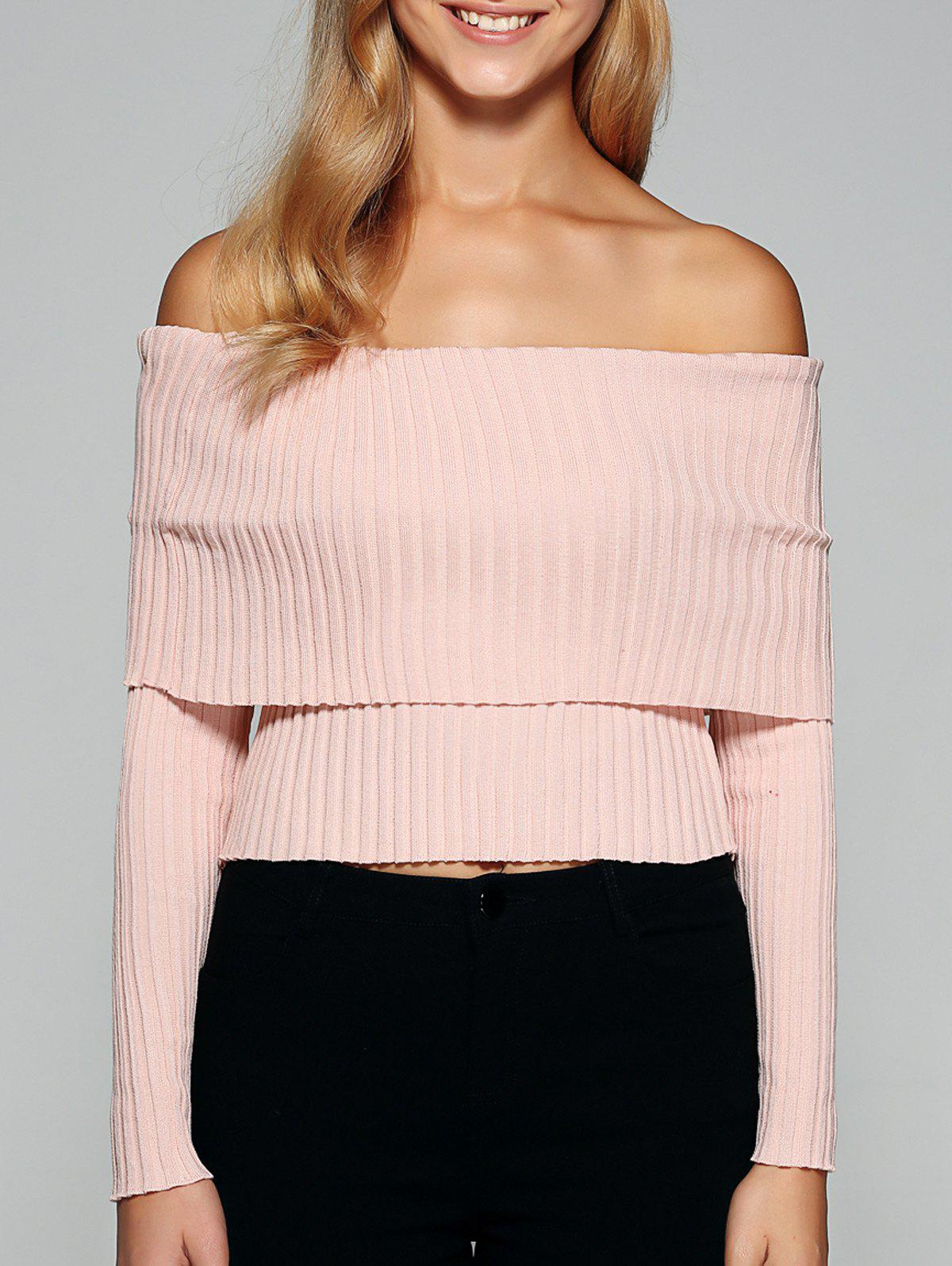 Shops Foldover Off The Shoulder Sweater