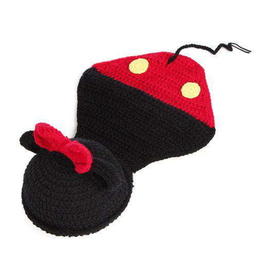 Trendy Newborn Baby Bowknot Cartoon Mouse Shape Knitted Blanket Photography