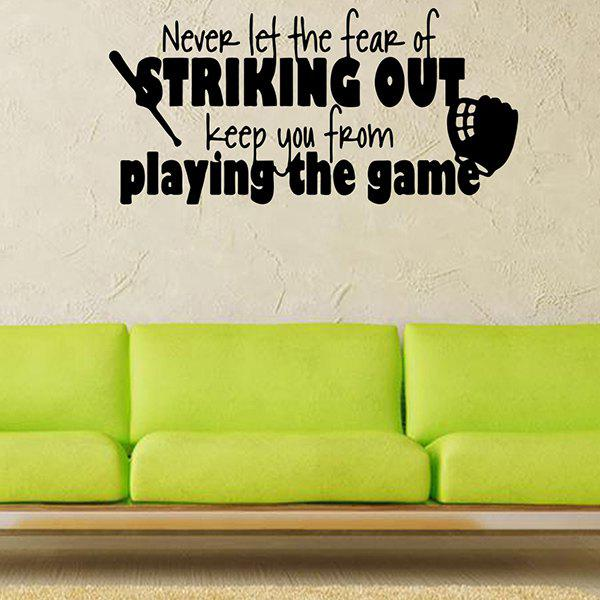 Waterproof Children Room Game Letters Vinyl Wall Stickers CustomHOME<br><br>Color: BLACK; Wall Sticker Type: Plane Wall Stickers; Functions: Decorative Wall Stickers; Theme: Shapes,Words/Quotes; Material: PVC; Feature: Removable; Size(L*W)(CM): 57*27; Weight: 0.194kg; Package Contents: 1 x Wall Sticker;