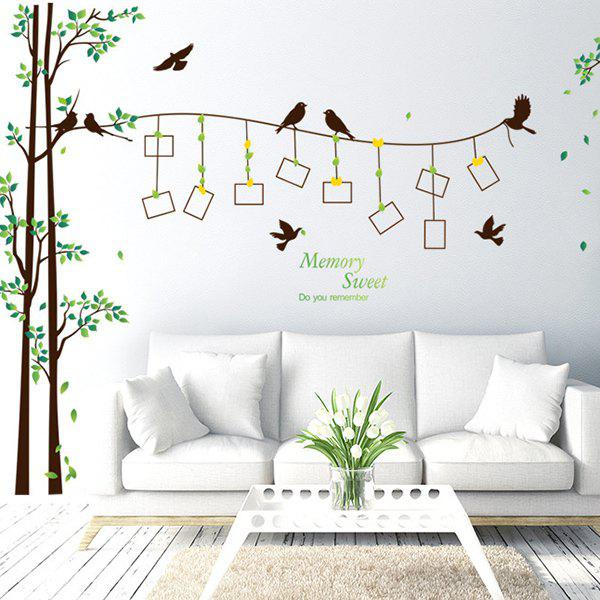 3d Large Size Round Dots Tree Wall Stickers Home Decor: Colormix Photo Frame Tree Waterproof Removable Wall
