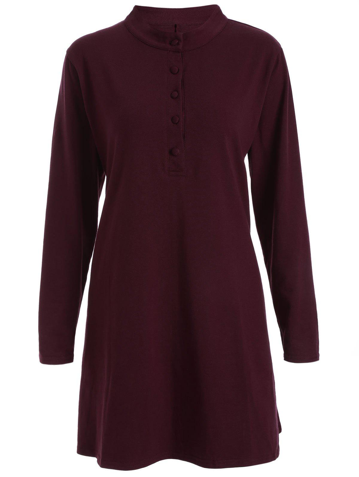 Round Neck Pleated Dress от Rosegal.com INT