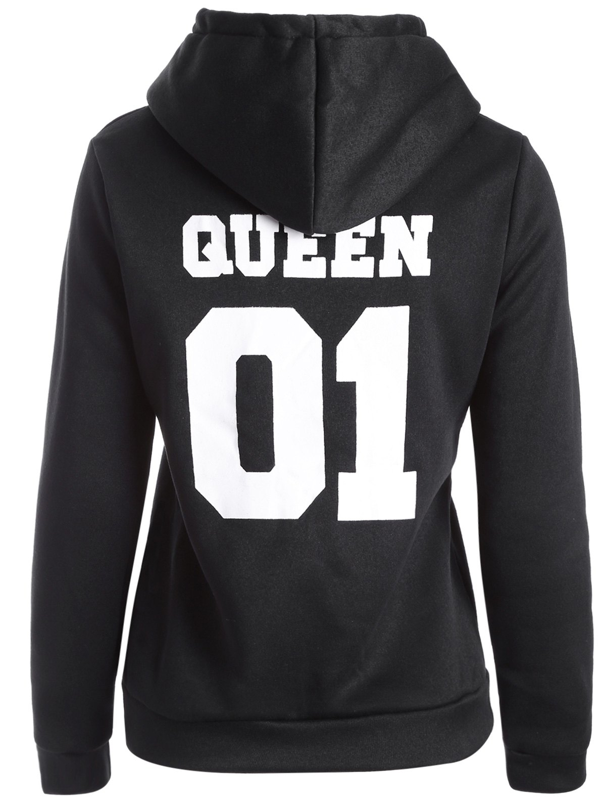 Hot Flocking Letter Print Graphic Hoodie