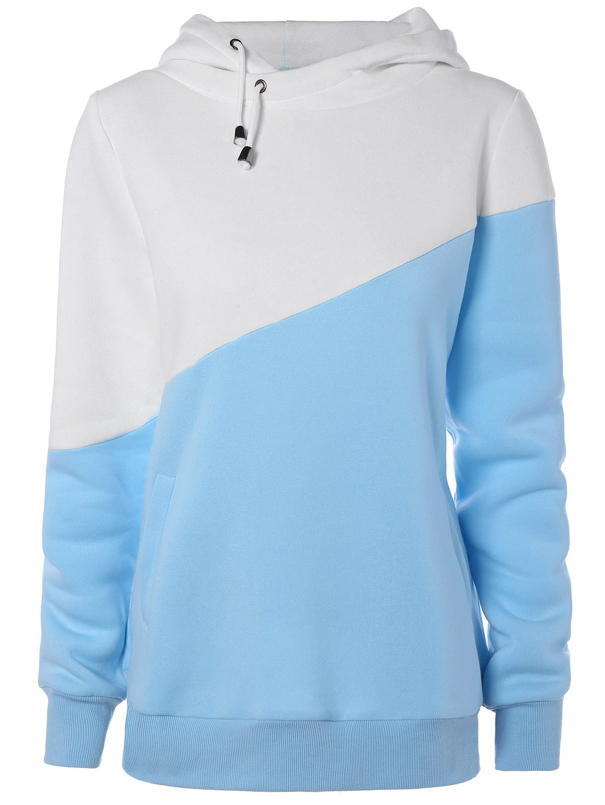 Chic Hit Color String Pullover Hoodie