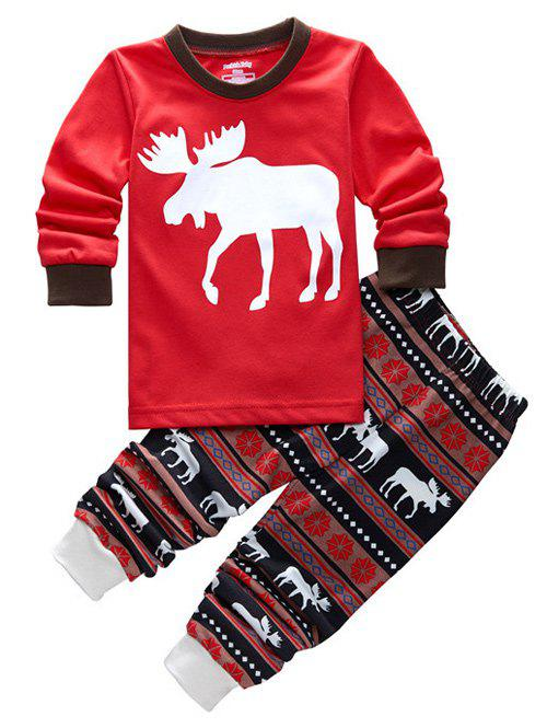 Latest Fawn Printed Christmas Pajamas Sets