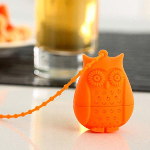 Creative Cartoon Owl Shape Silicon Tea InfusersHOME<br><br>Color: ORANGE; Type: Coffee &amp; Tea Sets; Material: Silicone; Size(CM): 5.5*4.1*3CM; Weight: 0.070kg; Package Contents: 1 x Tea Infuser;