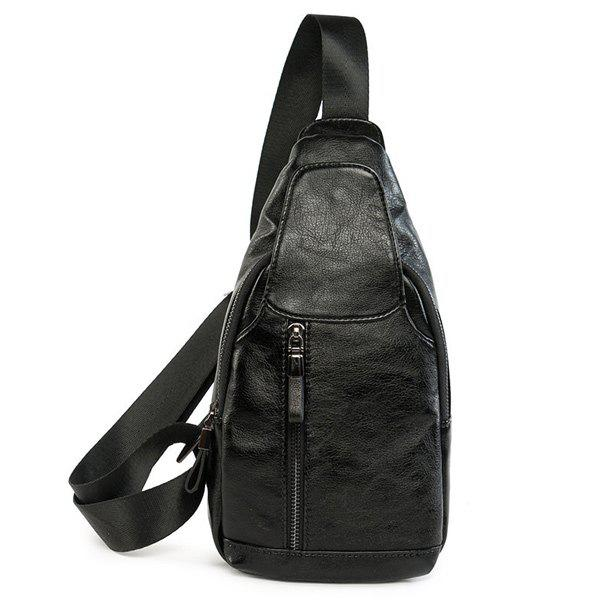 Chic PU Leather Chest Bag