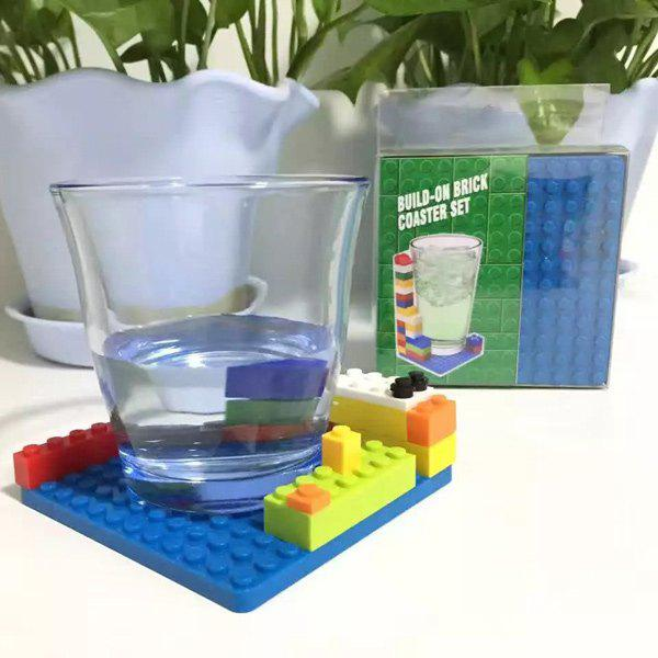 Buy 4 Pieces/Set Creative DIY Silicone Building Blocks Assembled Cup Mats