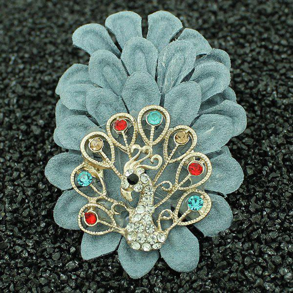 Faux Leather Filigree Peacock Brooch от Rosegal.com INT