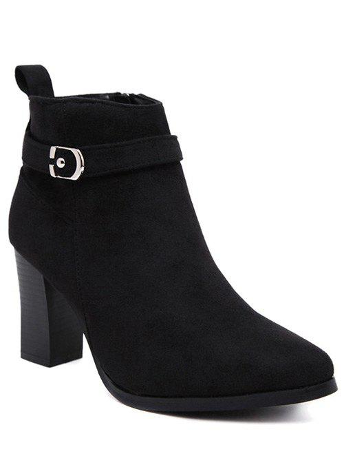 Affordable Buckle Chunky Heel Ankle Boots