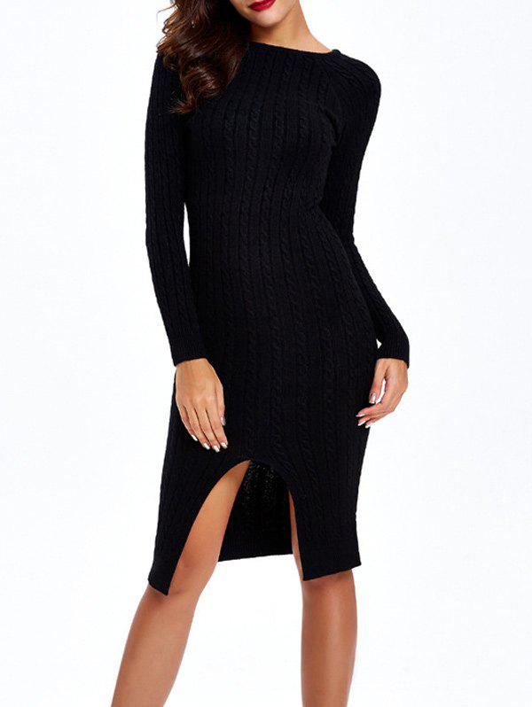 Cable-Knit Furcal Double-porter Robe