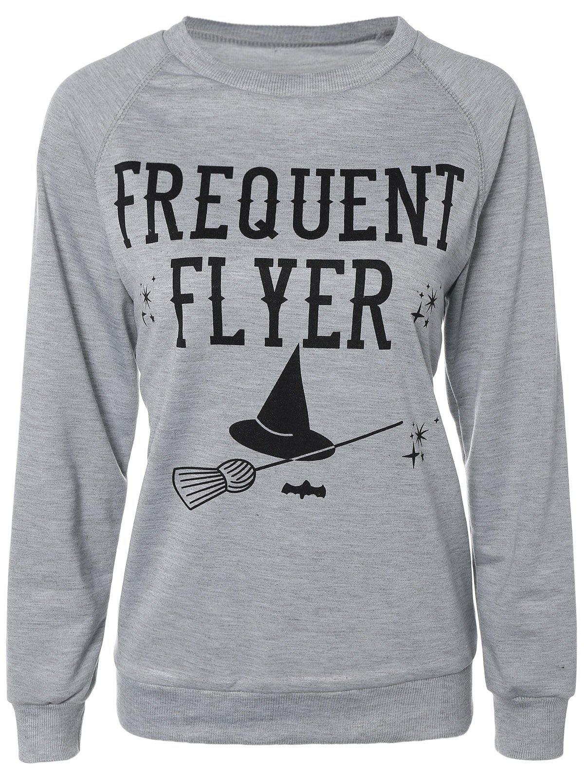 Discount Casual Long Sleeve Letter Sweatshirt