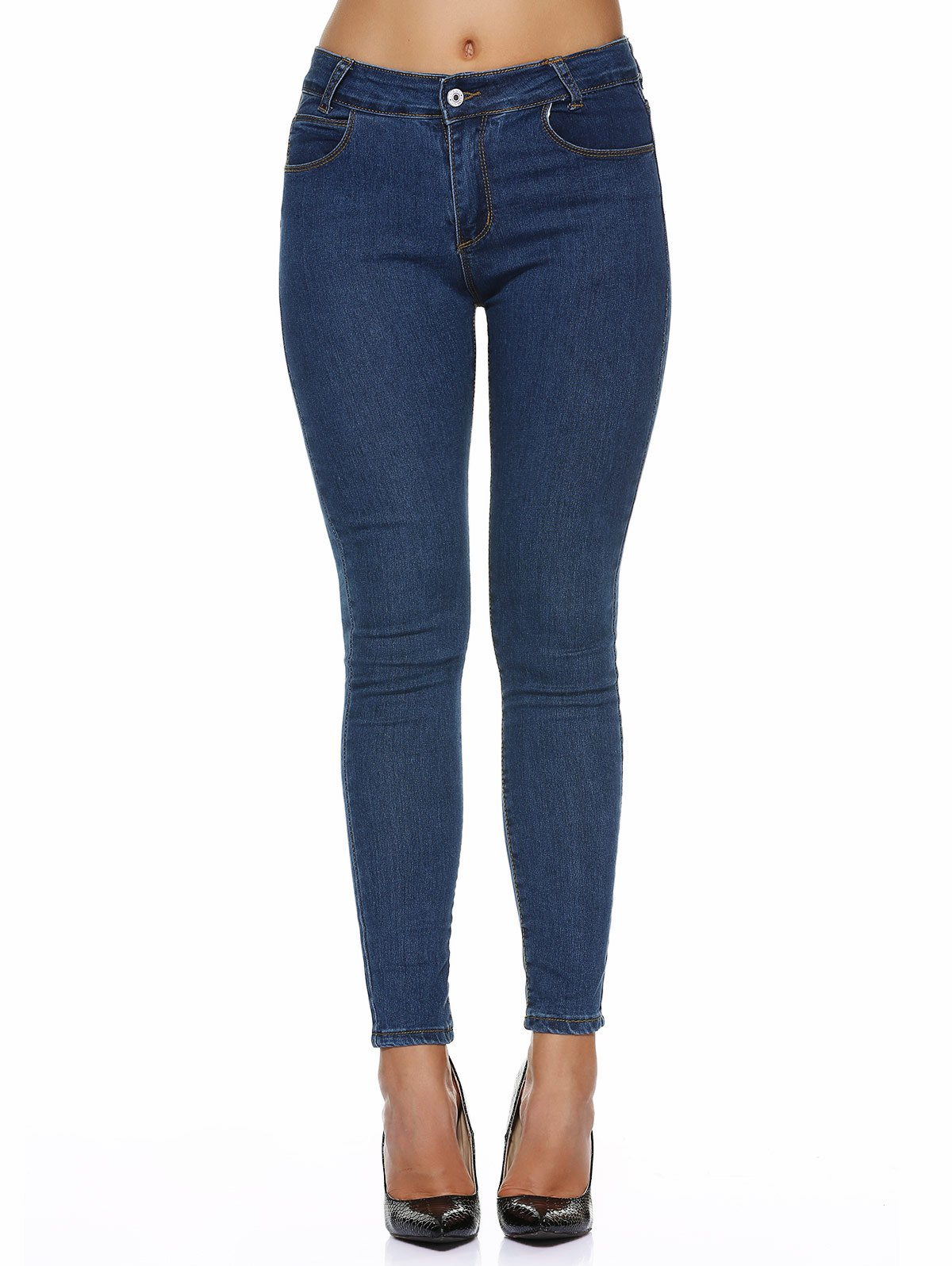Outfits Stretchy Pocket Design Skinny Jeans