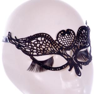 Gothic Style Wings Lace Party Mask - Black - M