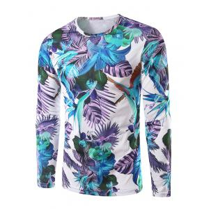 Long Sleeves Floral 3D Print T-Shirt