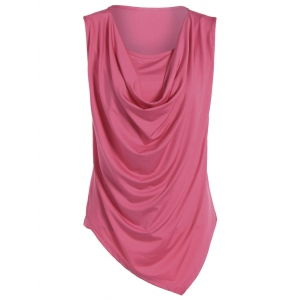 Ruched Asymmetrical Tank Top
