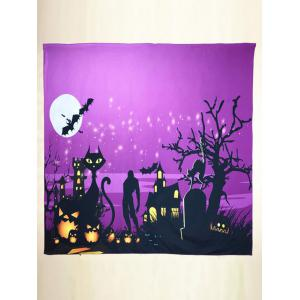 Halloween Day Night Square Scarf - Purple