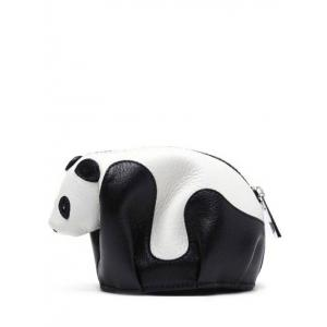 Color Block Panda Shape Zipper Crossbody Bag - White And Black - 40