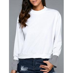 Splicing Long Sleeve Sweatshirt