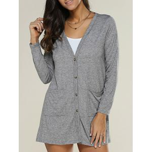 Pocket Design Buttoned Thin Coat