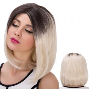 Medium Colormix Straight Centre Parting Synthetic Wig