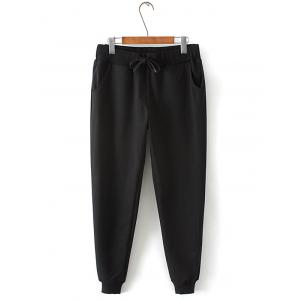 Plus Size Drawstring Harem Jogger Pants - Black - 2xl
