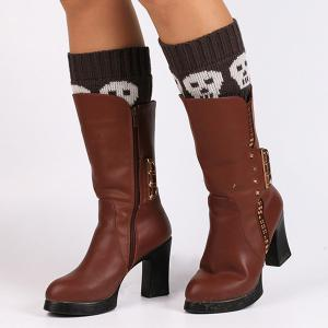 Casual Skull Pattern Boot Cuffs