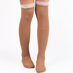 Casual Lace Edge Knit Stockings