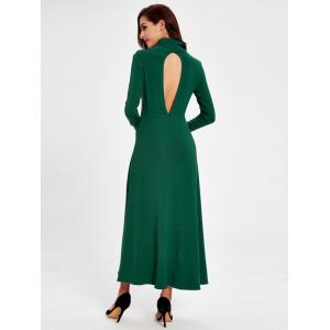 Casual Turtleneck Hollow out Swing Dress