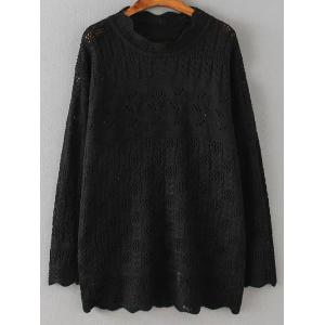Cut Out Loose Casual Sweater