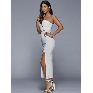 One-Shoulder Slit Fitted Maxi Formal Dress -