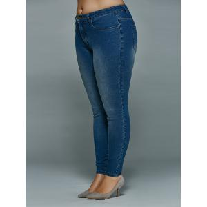 Plus Size Mid Waisted Skinny Jeans -