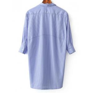 Long Three Quarter Sleeve Casual Shirt -