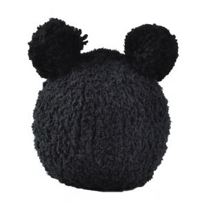 Winter Knit Little Bear Face Hat -