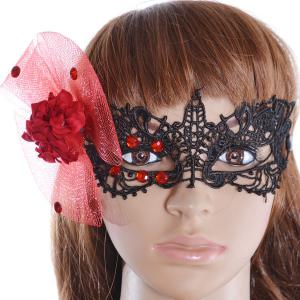 Gothic Style Faux Flower Lace Party Mask -