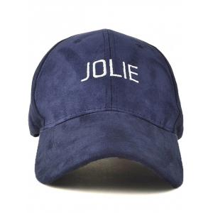 Casual Adjustable Letters Embroidery Curved Brim Baseball Hat -