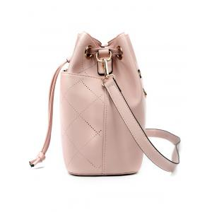 Metal Geometric Pattern Drawstring Crossbody Bag -