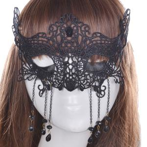 Gothic Style Fringe Lace Party Mask -