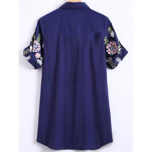 Ethnic Floral Embroidered Shirt -