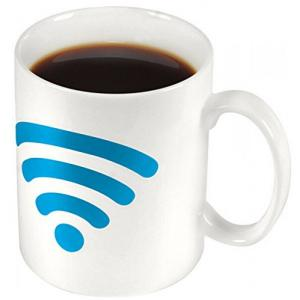 WIFI Signals Heat Sensitive Color Changing Coffee Milk Mug -