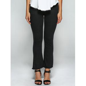 High Waist Skinny Flare Jeans - BLACK 28
