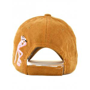 Casual Cartoon Leopard Letter Embroidery Corduroy Baseball Hat -
