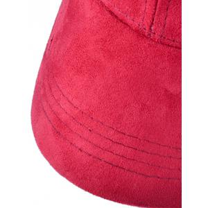 Casual NY Embroidery Faux Suede Baseball Hat -
