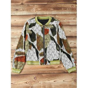 Zip Design Printed Jacket -