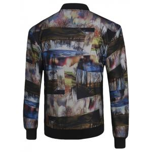 3D Photos Print Stand Collar Zip-Up Jacket -