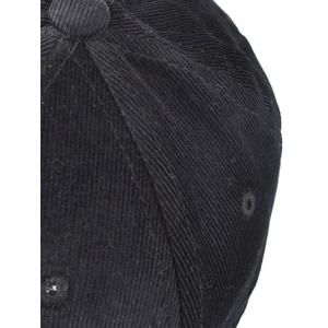 Warm Lollipop Embroidery Corduroy Baseball Hat -