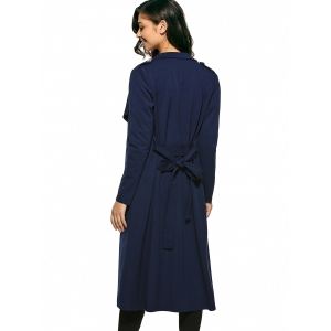 Self-Tie Long Wrap Coat -